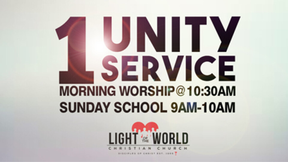 Morning Worship - Unity Service