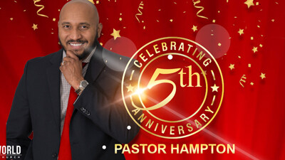 HAPPY 5th ANNIVERSARY PASTOR HAMPTON