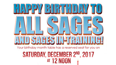 Happy Birthday To All The LWCC  SAGES and SAGES In-Training!