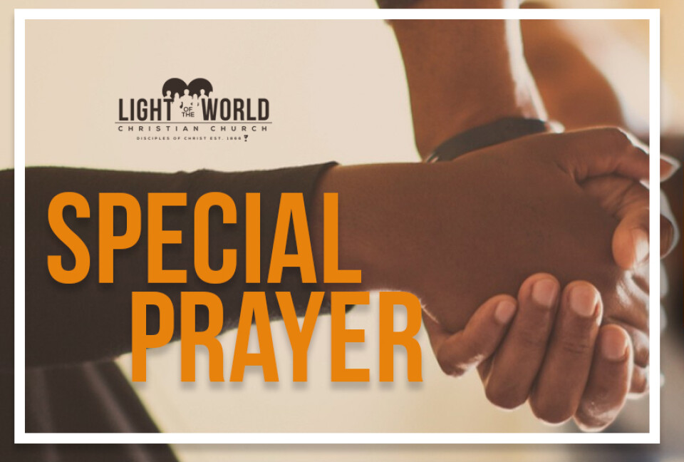 SPECIAL TIME OF PRAYER