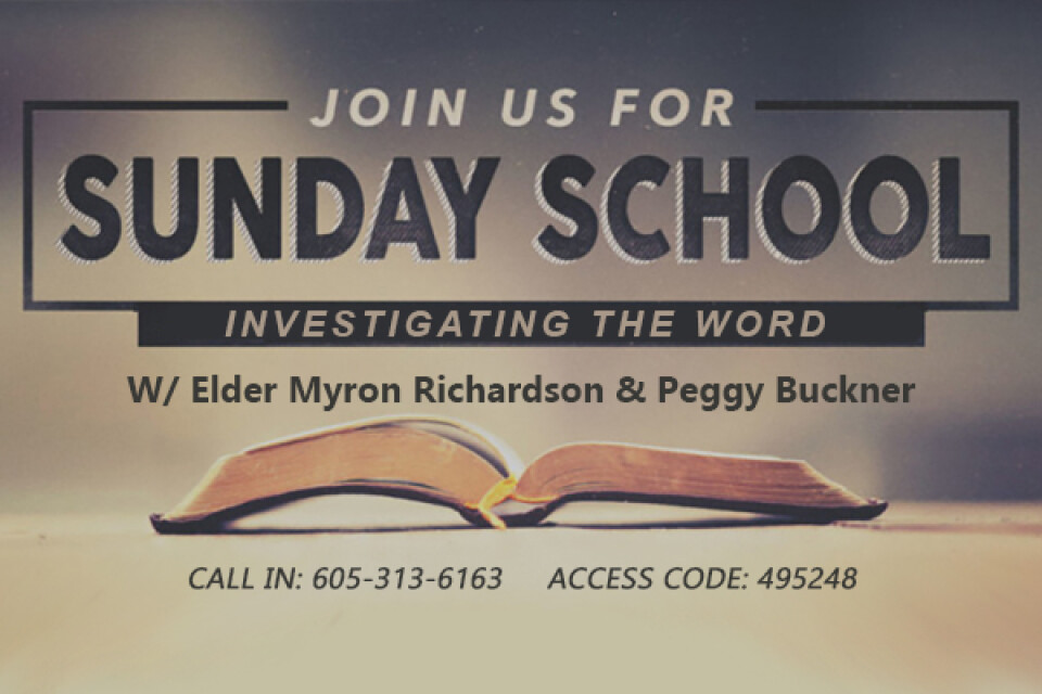 "Sunday School - ""Investigating the Word"""