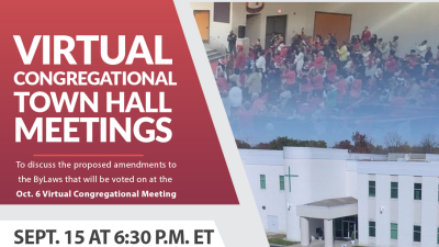 Virtual Congregational Meeting & Town Hall(s) Registration
